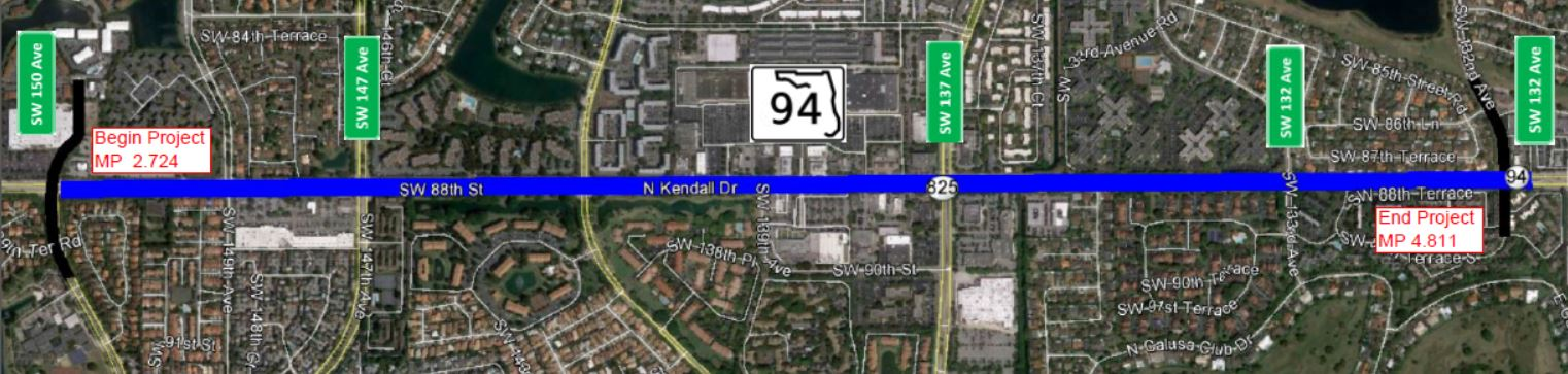 SR94 Kendall Drive Map